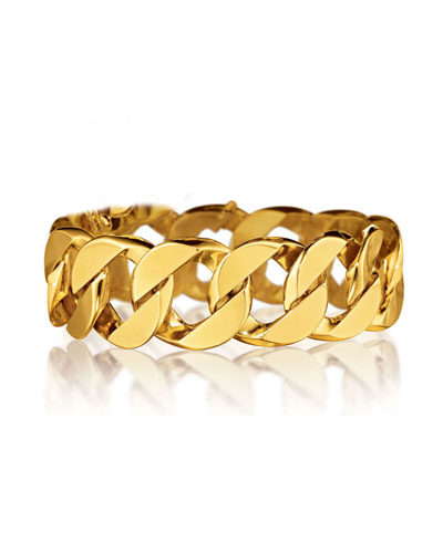 18K Yellow Gold Curb-Link Bracelet