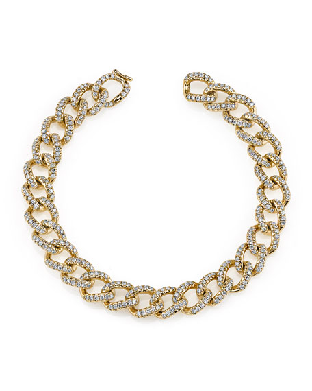 Anita Ko 18k Rose Gold Small Diamond Chain