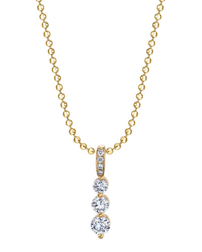 18k Gold Small Diamond Twiggy Necklace