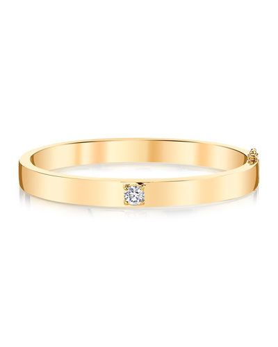 18k Gold Round Diamond Bracelet