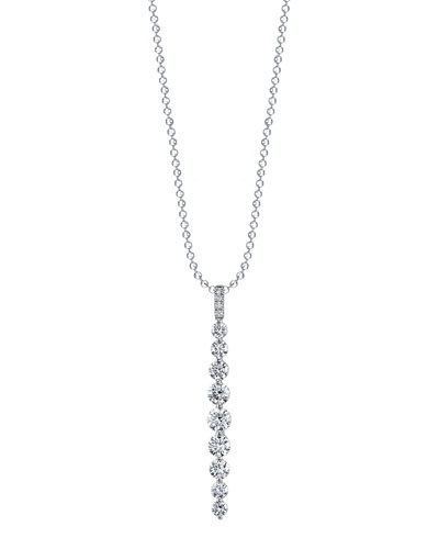 18k White Gold Medium Diamond Twiggy Necklace