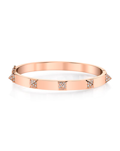 18k Rose Gold Diamond Spike Bracelet