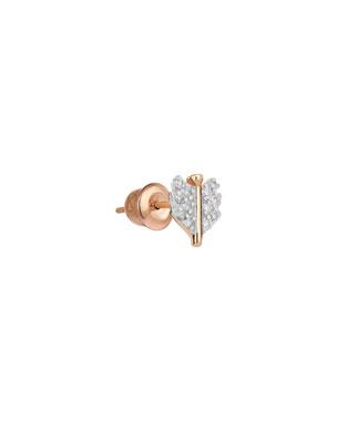 Kismet by Milka 14k Rose Gold Mini Quill Earring (Single) 6aeb2a1b3db7a