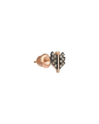14k Rose Gold Mini Quill Earring (Single)