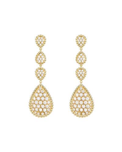 Serpent Boheme 18k Diamond Drop Earrings