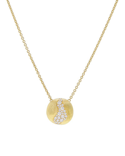 18k Gold Africa Diamond Constellation Pendant Necklace