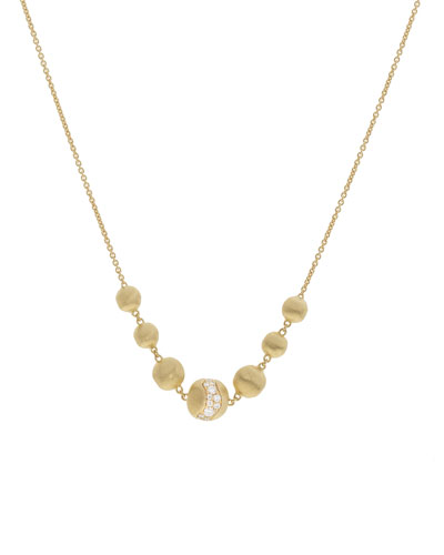 18k Gold Africa Short Diamond Constellation Necklace