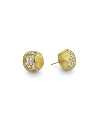 18k Gold Africa Diamond Constellation Stud Earrings