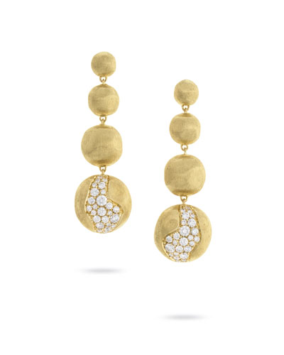 18k Gold Africa Diamond Constellation Drop Earrings