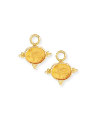 19k Gold Grifo Venetian Glass Earring Charms