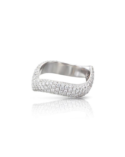 Sensual Touch 18k White Gold 220-Diamond Ring