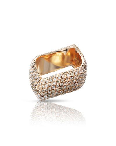 Sensual Touch 18k Rose Gold Diamond Ring