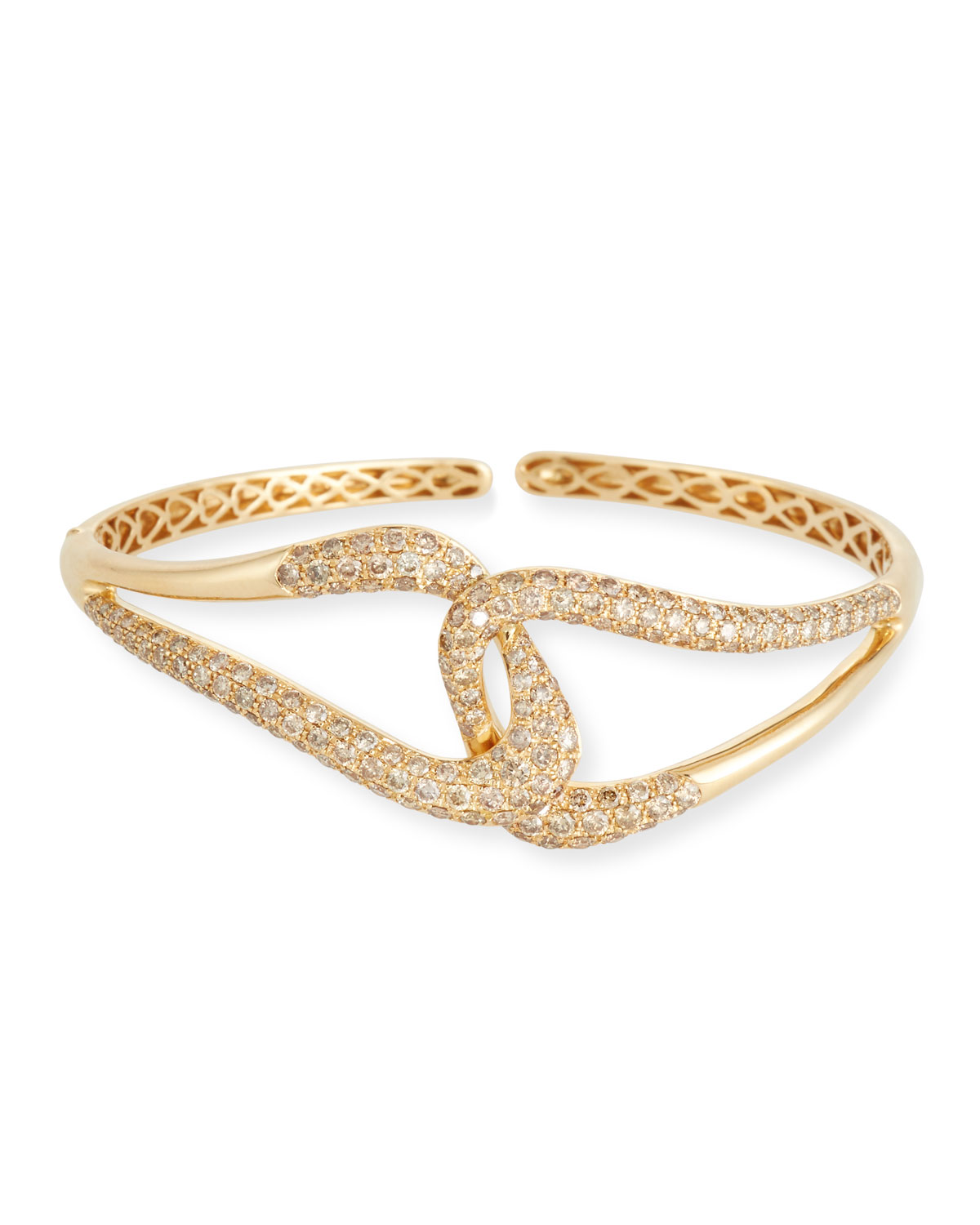 18k Gold Brown Diamond Link Bracelet