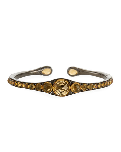 18k Gold  Rhodium & Citrine Bracelet