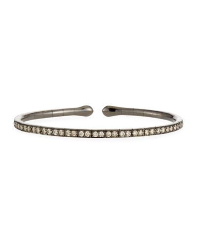 18k Gold, Rhodium & Brown Diamond Bracelet