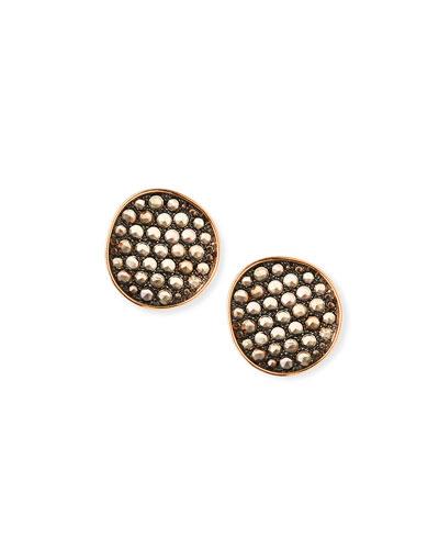 18k Rose Gold & Smoky Quartz Earrings
