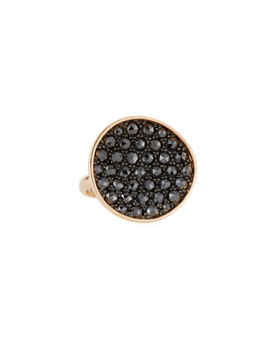 18k Gold & Black Diamond Ring, Size 7