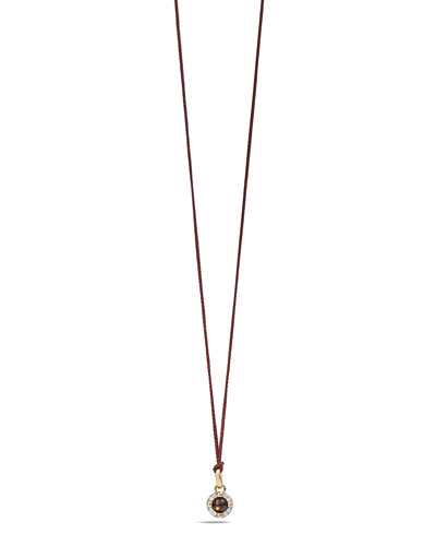 M'ama Non M'ama Pendant Necklace in Rose Gold with Garnet & Diamonds