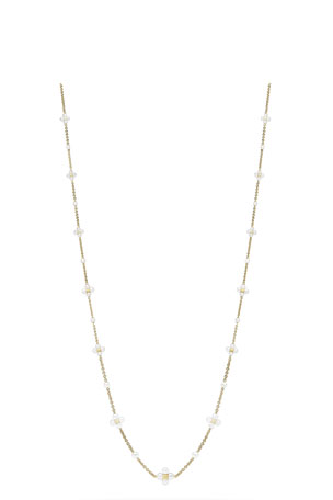 Paul Morelli Long Pearl Sequence Necklace in 18k Gold