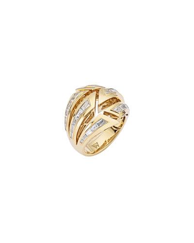 Dynamite Bombe 18k Gold & Diamond Ring  Size 6.5