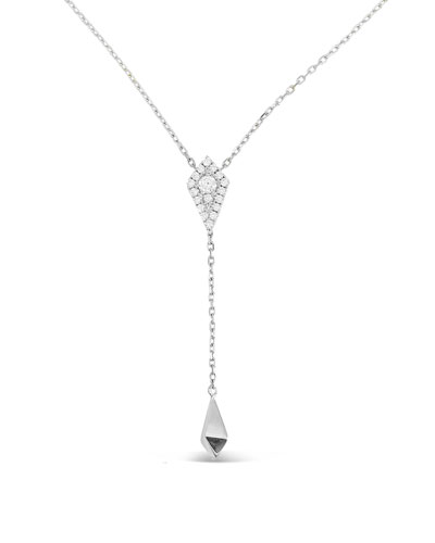 18k White Gold Firenze Diamond Kite Lariat Necklace