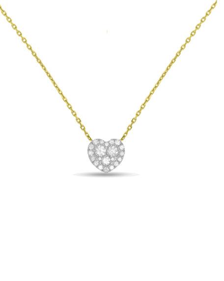 Frederic sage 18k gold firenze ii diamond heart pendant necklace 18k gold firenze ii diamond heart pendant necklace aloadofball Choice Image