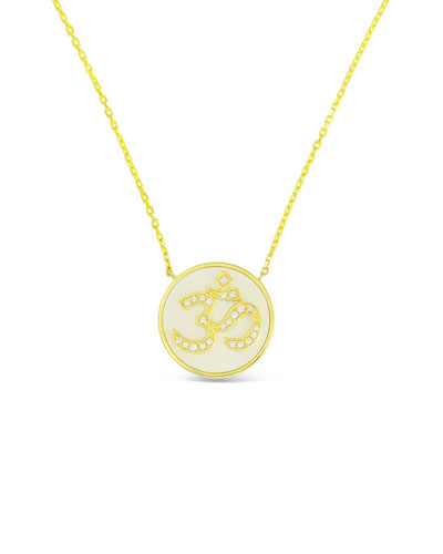 18k Gold Happy Diamond & Mother-of-Pearl Pendant Necklace