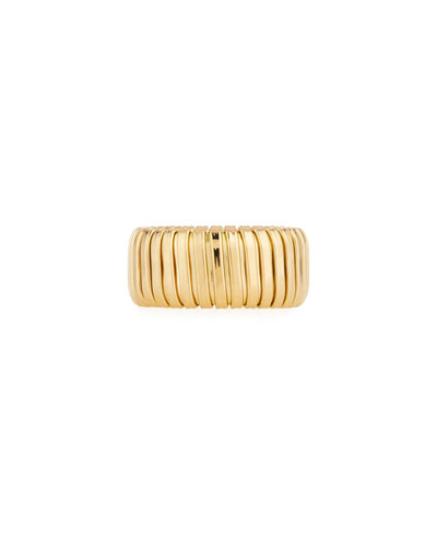 18k Gold Band Ring, 10mm