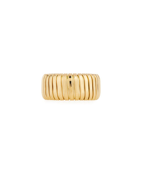 Alberto Milani 18k Gold Band Ring, 10mm