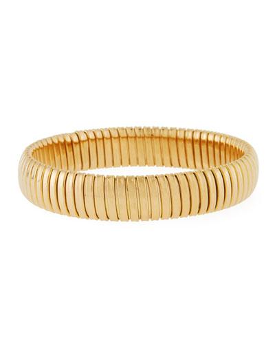 18k Gold Slip-On Bangle, 12mm