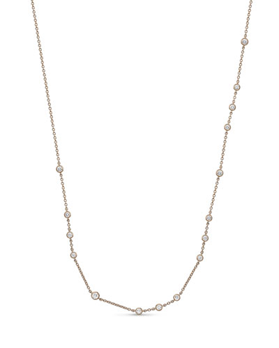 18k Rose Gold Dazzling By-the-Yard Necklace