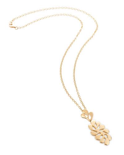 Sea Leaf 18k Pendant Necklace