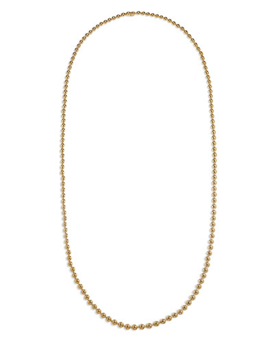 18k Gold Bead Necklace, 36