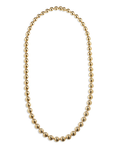 18k Gold Bead Necklace, 22