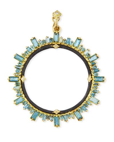 Old World Moss Aquamarine & Diamond Pendant