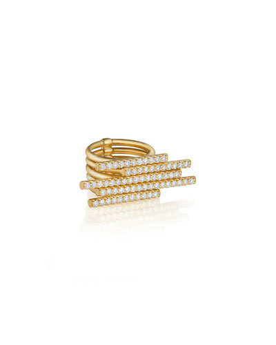 18k Gold 5-Diamond Sticks Ring
