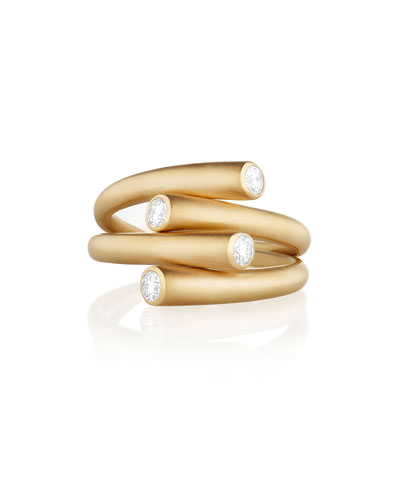 Whirl Duo 18k Diamond  Ring