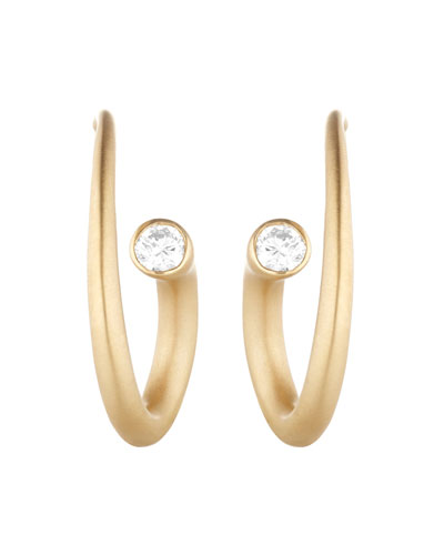 Whirl 18k Gold Diamond Spiral Earrings