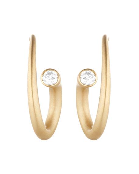 Whirl 18k Gold Diamond Spiral Earrings