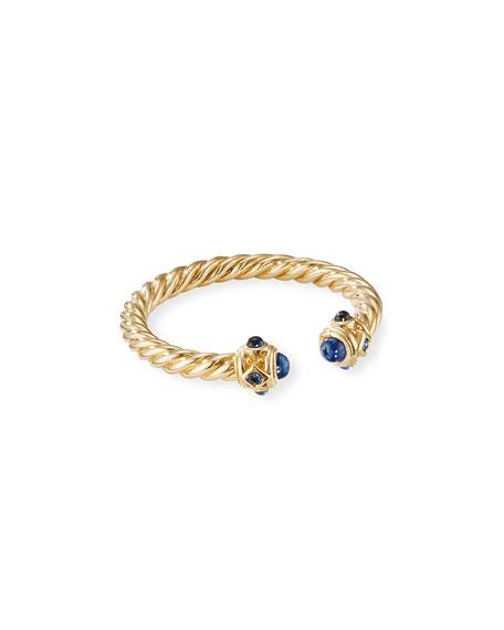 David Yurman Renaissance 18k Gold & Sapphire Ring, Size 7
