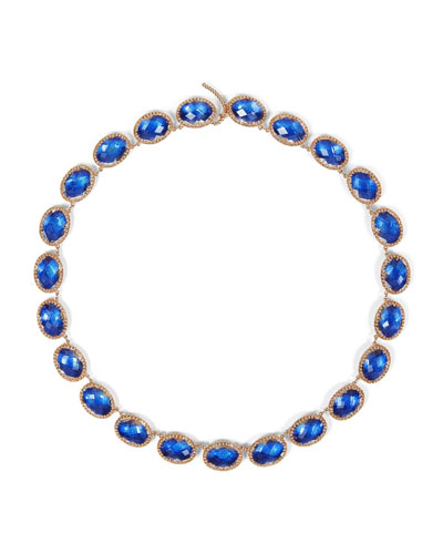 Lily Riviere Necklace  Cobalt