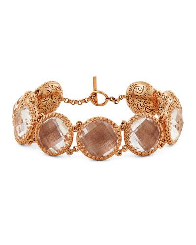 Olivia Button Bracelet  Fawn