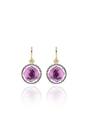 Larkspur & Hawk Olivia Diamond & Drop Earrings, Magenta