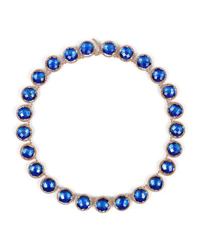 Olivia Button Riviere Necklace, Cobalt