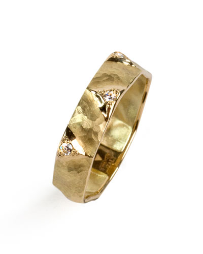Dune 18k Gold & Diamond Ring  Size 8