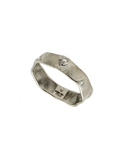 Dune 18k White Gold & Diamond Ring  Size 8