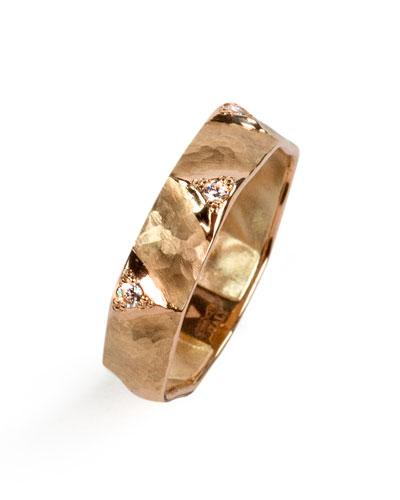 Dune 18k Rose Gold & Diamond Ring