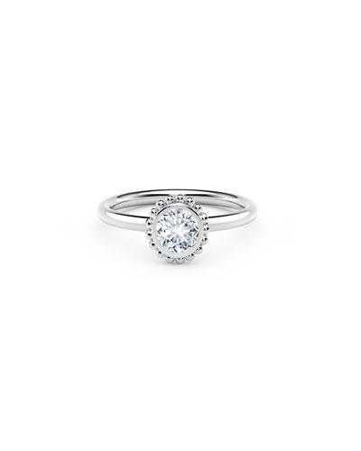 18k White Gold Diamond Beaded Ring  0.25tcw