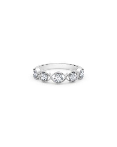 Tribute 18k White Gold Braided 5-Diamond Ring