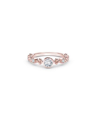 Tribute 18k Rose Gold Diamond Stack Ring  Size 6.5